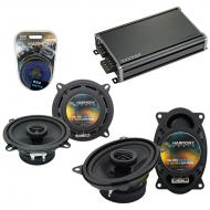 Compatible with Jeep Comanche Pickup 1985 OEM Speaker Replacement Harmony R5 R46 & CXA360.4 Amp