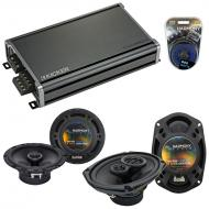Compatible with Jeep Commander 06-07 OEM Speaker Replacement Harmony R69 R65 & CXA360.4 Amp