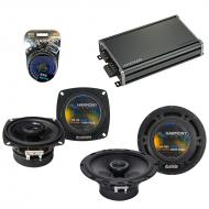 Compatible with Mercedes 500 Series 95-96 OEM Speaker Replacement Harmony R4 R65 & CXA360.4 Amp