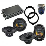 Compatible with Pontiac G6 2009-2009 Factory Speaker Replacement Harmony R65 R69 & CXA360.4 Amp