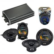 Compatible with Pontiac TransSport APV 1993-1996 OEM Speaker Replacement Harmony & CXA360.4 Amp