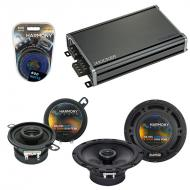 Compatible with Volkswagen GTI 1986-1994 OEM Speaker Replacement Harmony R65 R35 & CXA360.4 Amp