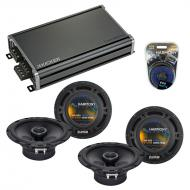 Compatible with Acura SLX 1996-2000 Factory Speaker Replacement Harmony (2) R65 & CXA360.4 Amp