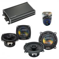 Compatible with Audi Cabrio 1997-1998 Factory Speaker Replacement Harmony R4 R5 & CXA360.4 Amp