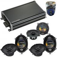 Compatible with BMW 323 1997-2001 Factory Speaker Replacement Harmony (2)R68 R5 & CXA360.4 Amp