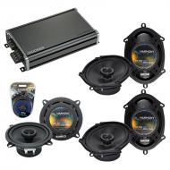 Compatible with BMW 328 1997-2001 Factory Speaker Replacement Harmony (2)R68 R5 & CXA360.4 Amp