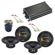 Compatible with Chevy Tracker 1998-2004 Factory Speaker Replacement Harmony (2) R65 & CXA360....