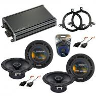 Compatible with Dodge Durango 1998-2001 Factory Speaker Replacement Harmony (2) R65 & CXA360....