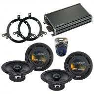 Compatible with Dodge Durango 2002-2003 Factory Speaker Replacement Harmony (2) R65 & CXA360....