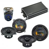 Compatible with Dodge Omni 1978-1990 Factory Speaker Replacement Harmony R5 R65 & CXA360.4 Amp