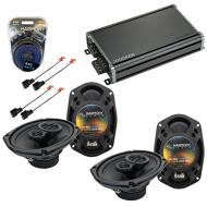 Compatible with Dodge Stratus 2001-2006 Factory Speaker Replacement Harmony (2) R69 & CXA360....
