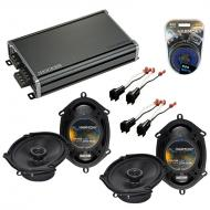 Compatible with Ford Freestar 2004-2007 Factory Speaker Replacement Harmony (2) R68 & CXA360....