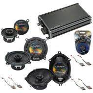 Compatible with Ford Mustang 1986-1993 Factory Speaker Replacement Harmony Speakers & CXA360....