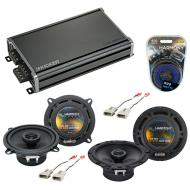 Compatible with Ford Probe 1988-1992 Factory Speaker Replacement Harmony R65 R5 & CXA360.4 Amp
