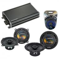 Compatible with GMC Sierra 2007-2013 Factory Speaker Replacement Harmony R65 R5 & CXA360.4 Amp