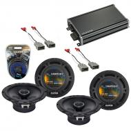 Compatible with Honda CRV 2007-2011 Factory Speaker Replacement Harmony (2) R65 & CXA360.4 Amp