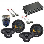 Compatible with Honda CRX 1988-1991 Factory Speaker Replacement Harmony (2) R65 & CXA360.4 Amp