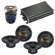Compatible with Volvo C70 2006-2008 Factory Speaker Replacement Harmony (2) R65 & CXA360.4 Amp