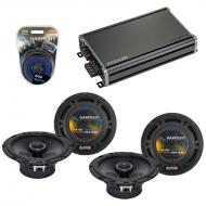 Compatible with Volvo S80 2007-2011 Factory Speaker Replacement Harmony (2) R65 & CXA360.4 Amp
