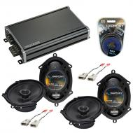 Compatible with Ford Windstar 1995-1998 OEM Speaker Replacement Harmony (2) R68 & CXA360.4 Amp