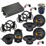 Compatible with GMC Jimmy 1995-2001 OEM Speaker Replacement Harmony (2) R65 R46 & CXA360.4 Amp