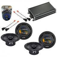 Compatible with Jeep Cherokee 1997-2001 OEM Speaker Replacement Harmony (2) R65 & CXA360.4 Amp