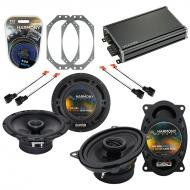 Compatible with Jeep Wrangler 1997-2006 OEM Speaker Replacement Harmony R46 R65 & CXA360.4 Amp