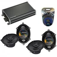 Compatible with Lincoln Blackwood 01-03 OEM Speaker Replacement Harmony (2) R68 & CXA360.4 Amp