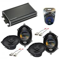 Compatible with Lincoln Mark VIII 93-95 OEM Speaker Replacement Harmony (2) R68 & CXA360.4 Amp