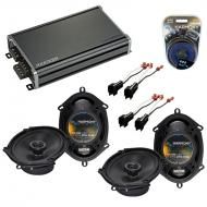 Compatible with Lincoln Navigator 99-14 OEM Speaker Replacement Harmony (2) R68 & CXA360.4 Amp