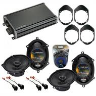 Compatible with Mazda B-series Pickup 98-09 OEM Speaker Replacement Harmony (2) R68 & CXA360....