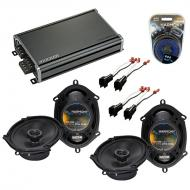 Compatible with Mazda Tribute 2001-2006 OEM Speaker Replacement Harmony (2) R68 & CXA360.4 Amp
