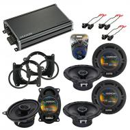 Compatible with Chevy S-10 Blazer 1995-1997 OEM Speaker Replacement Harmony R46 R65 & CXA360....