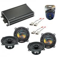 Compatible with Mercury Tracer 1991-1996 OEM Speaker Replacement Harmony (2) R5 & CXA360.4 Amp