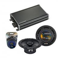 Compatible with Mitsubishi Raider 2006-2009 OEM Speaker Replacement Harmony R65 & CXA360.4 Amp