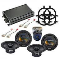 Compatible with Toyota Highlander 2004-2005 OEM Speaker Replacement Harmony (2) R65 & CXA360....