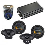 Compatible with Volkswagen Rabbit 06-09 OEM Speaker Replacement Harmony (2) R65 & CXA360.4 Amp