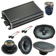 Compatible with Chevy Camaro 2010-2015 Factory Speakers Replacement Harmony C65 C69 & CXA360.4
