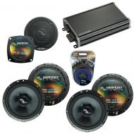 Compatible with Hummer H2 2008-2009 Factory Speakers Replacement Harmony (2) C65 C4 & CXA360.4