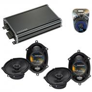 Compatible with Ford Five Hundred 2005-2007 OEM Speaker Replacement Harmony (2) R68 & CXA360....