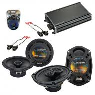 Compatible with Buick LaCrosse/Allure 2005-2009 OEM Speaker Replacement R65 R69 & CXA360.4 Amp