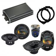 Compatible with Buick Lucerne 2006-2011 OEM Speaker Replacement Harmony R65 R69 & CXA360.4 Amp