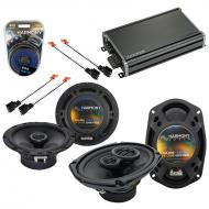 Compatible with Dodge Avenger 1995-2000 OEM Speaker Replacement Harmony R65 R69 & CXA360.4 Amp