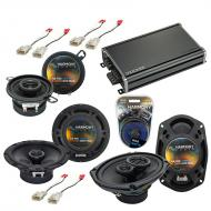 Compatible with Plymouth Neon 2000-2001 OEM Speaker Replacement Harmony R65 R35 & CXA360.4 Amp