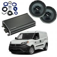 Compatible with Chevrolet City Express 2015-2018 Premium Speaker Replacement Package C65 CXA360.4