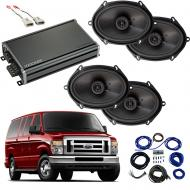 Compatible with Ford Econoline 2014-2018 Factory Speaker Replacement Package Harmony R68 CXA360.4