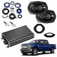 Compatible with Ford F-250 F-350 F-450 2017-2018 Factory Speaker Replacement Package R69 CXA360.4