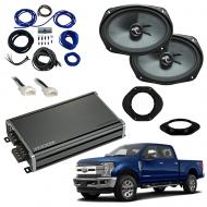 Compatible with Ford F-250 F-350 F-450 2017-2018 Premium Speaker Replacement Package C69 CXA360.4