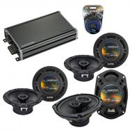 Compatible with Acura TSX 2004-2014 Factory Speaker Replacement Harmony (2)R65 R69 & CXA360.4...
