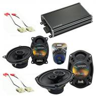 Compatible with Chevy Camaro 1982-1992 Factory Speaker Replacement Harmony R46 R69 & CXA360.4...